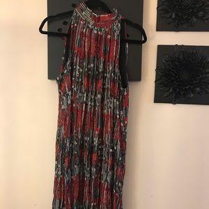 Lori michaels sleeveless high collared dress.